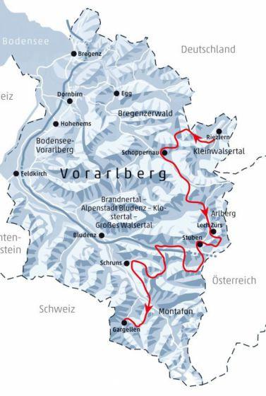 Vorarlberg Karte Berge.Auf Skiern Quer Durch Vorarlberg Lebensart Reisen